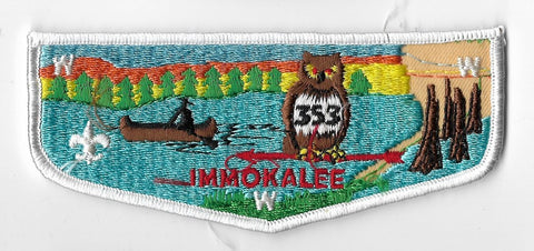 OA Lodge #353 Immokalee Chehaw Council S8 flap