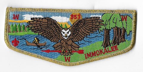 OA Lodge #353 Immokalee Chehaw Council S29a; Service flap