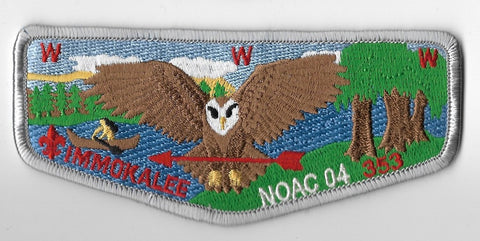OA Lodge #353 Immokalee Chehaw Council S46 flap; 2004 NOAC