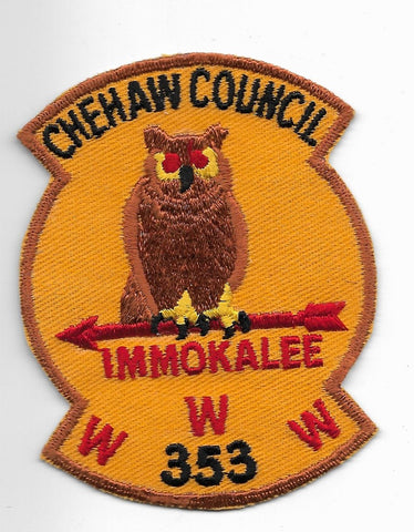 OA Lodge #353 Immokalee Chehaw  X1a; solid vertical fletching [OAP2579]