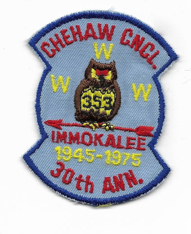 OA Lodge #353 Immokalee Chehaw Council X2; 1975; 30th anniversary