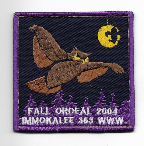 OA Lodge #353 Immokalee Chehaw Council 2001 Fall Ordeal
