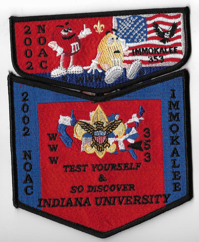 OA Lodge #353 Immokalee Chehaw Council 2002 NOAC set black border