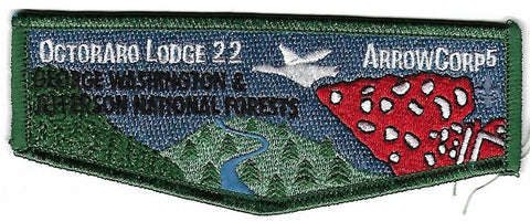 OA Lodge # 22 Octoraro Chester County  S-145 flap; Arrow Corps 5 [OAP279]