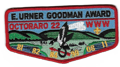 OA Lodge # 22 Octoraro Chester County  S-177 flap; Goodman Award [OAP287]