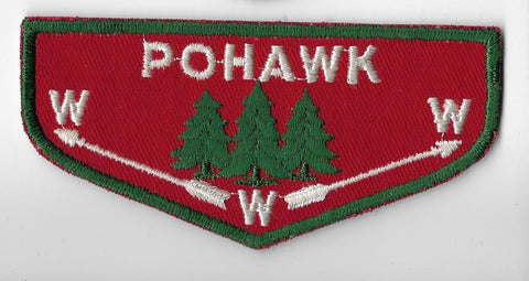 OA Lodge #445 Pohawk Covered Wagon Council F1a flap