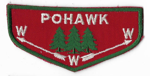 OA Lodge #445 Pohawk Covered Wagon Council F1b flap