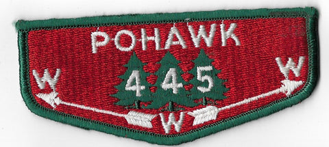 OA Lodge #445 Pohawk Covered Wagon Council S1a flap