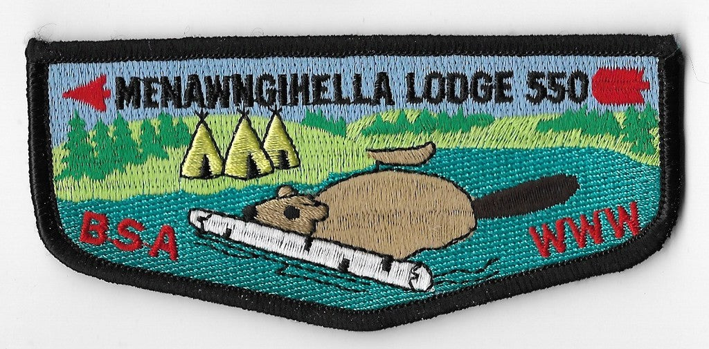 OA Lodge #550 Menawngihella Mountaineer Area Council S23 flap   Scout Patch  HQ