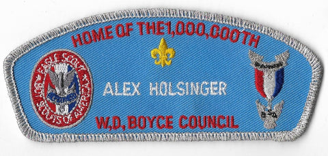 W.D. Boyce Council; Home of the 1,000,000th; Alex Holsinger