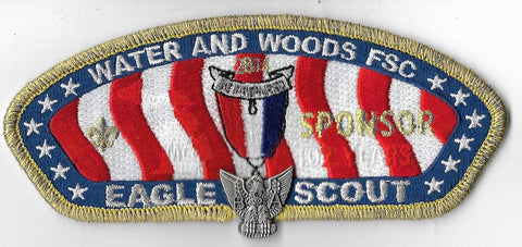Water and Woods  2014 Eagle Scout Sponsor; gold mylar [OAP3576]