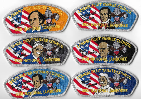 Connecticut Yankee Council 2001 National Jamboree; 12 piece set