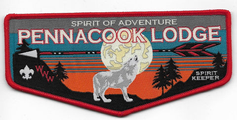 OA Lodge # 52 Pennacook Spirit of Adventure  First flap; Large [OAP446]