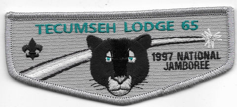 OA Lodge # 65 Tecumseh Simon Kenton  F-1 flap; 1997 Jamboree [OAP485]
