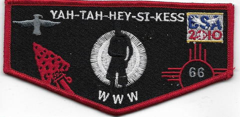 OA Lodge # 66 Yah-Tah-Hey-Si-Kess Great Southwest  S-83 flap; 2010 100th Anniversary [OAP496]