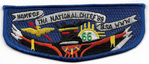 OA Lodge # 66 Yah-Tah-Hey-Si-Kess Great Southwest  S-28 flap; 1998 Home National Chief [OAP514]