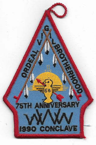 OA Lodge # 66 Yah-Tah-Hey-Si-Kess Great Southwest  1990 Conclave 75th Anniversary [OAP524]