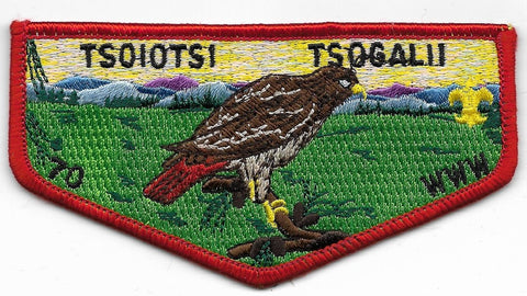 OA Lodge # 70 Tsoiotsi Tsogalii Old North State  S-1 flap; first flap [OAP537]