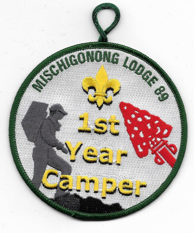 OA Lodge # 89 Mischigonong Lake Huron Area  R-10; 1st year camper; green [OAP597]