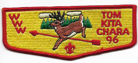 OA Lodge # 96 Tom Kita Chara Samoset ; S-9 flap; FDL; PB; WWW left of deer [OAP618]