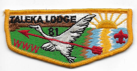 OA Lodge # 81 Taleka Okaw Valley  S-7 flap [OAP704]