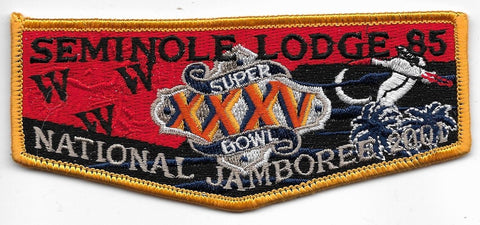 OA Lodge # 85 Seminole Gulf Ridge  S936 flap; 2001 Jamboree [OAP719]