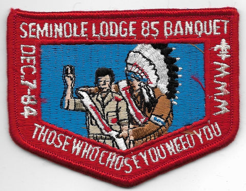OA Lodge # 85 Seminole Gulf Ridge  1984 Banquet Red Border [OAP776]