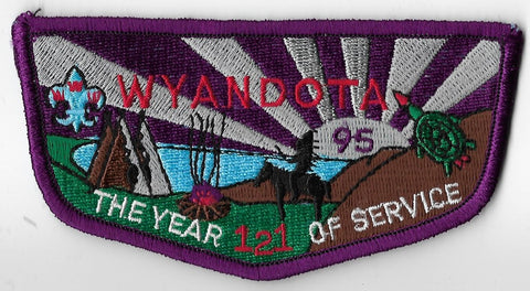 OA Lodge # 121 Wyandota Harding Area  S-10; 1995 the year of service [OAP897]