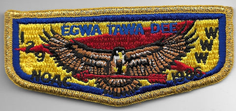 OA Lodge # 129 Egwa Tawa Dee Atlanta Area  S-6 flap; 1986 NOAC [OAP905]