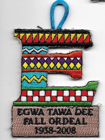 OA Lodge # 129 Egwa Tawa Dee Atlanta Area  2008 Fall Ordeal 'E' [OAP956]