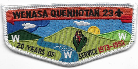 OA Lodge # 23 Wenasa Quenhotan W. D. Boyce  20 Years of Service; 1973-1993 [OAP300]