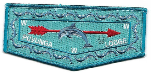 OA Lodge # (32) Puvunga Long Beach Area ; blue border [OAP327]