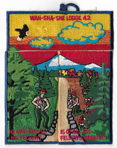 OA Lodge # 42 Wah-Sha-She Ozark Trails  2007 3 piece set [OAP354]