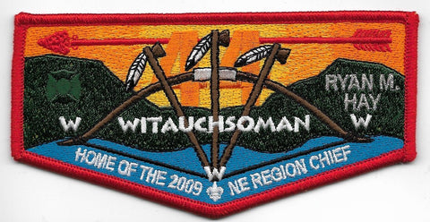 OA Lodge # 44 Witauchsoman Minsi Trails  S-44 flap; 2009 NE Region Chief [OAP373]