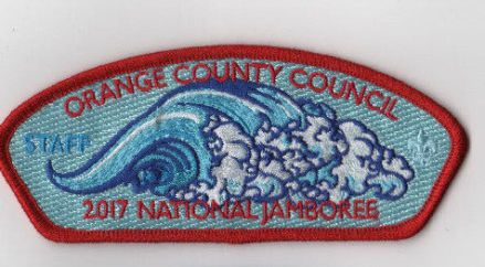 2017 National Scout Jamboree Orange County  Red Bdr. Staff JSP [FB230]