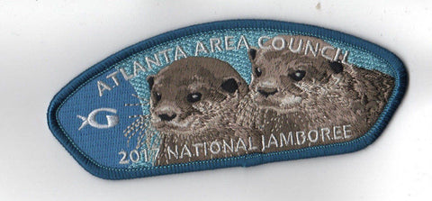 2017 National Scout Jamboree Atlanta Area GA Aquarium Otters Blue JSP [C3141] - Scout Patch HQ