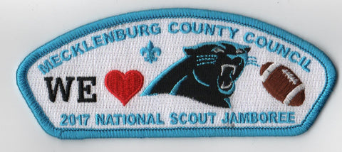 2017 National Scout Jamboree Mecklenburg County  We Love Panthers Blue Bdr JSP [FB258]