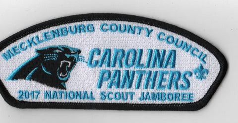 2017 National Scout Jamboree Mecklenburg County Council Carolina Panthers BLK Bdr JSP