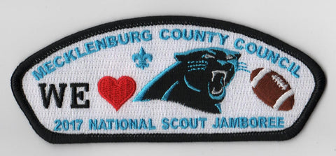 2017 National Scout Jamboree Mecklenburg County Council We Love Panthers BLK Bdr JSP