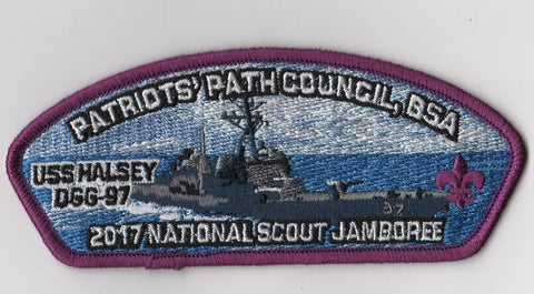 2017 National Scout Jamboree Patriots' Path Council Purple Bdr JSP