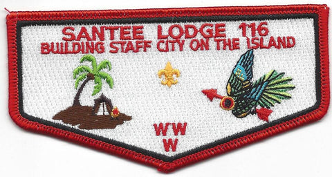 #116 Santee Lodge Flap S17 Island 2000 Issue - Scout Patch HQ