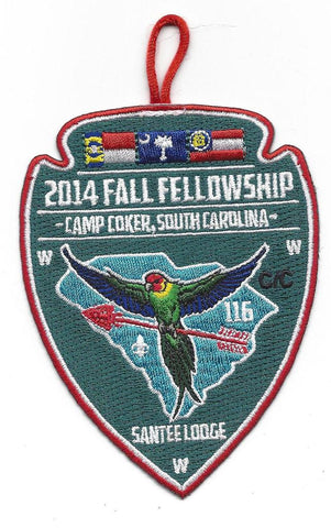 #116 Santee Lodge 2014 Fall Fellowship pp - Scout Patch HQ