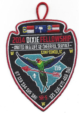 #116 Santee Lodge 2014 Dixie Fellowship Delegate Patch - Scout Patch HQ