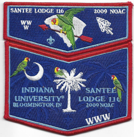 #116 Santee Lodge Flap S28 NOAC Trader 2009 Issue with X9 Chevron - Scout Patch HQ