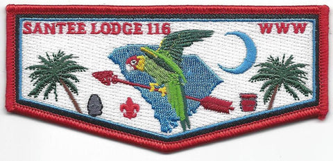 #116 Santee Lodge Flap S32 Solid Inner Border 2010-2012 Issue - Scout Patch HQ