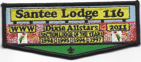 #116 Santee Lodge Flap S34 Dixie All Stars 2011 Issue - Scout Patch HQ