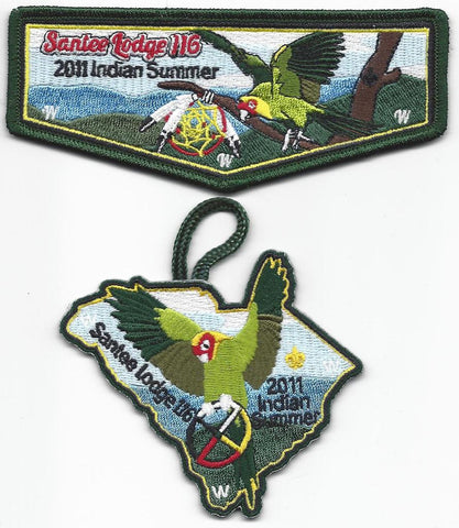 #116 Santee Lodge Flap S36 Indian Summer Trader 2011 Issue with X12 Dangle - Scout Patch HQ