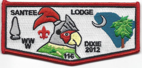 #116 Santee Lodge Flap S38 Dixie Knights Trader 2012 Issue - Scout Patch HQ