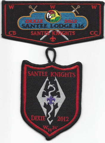 #116 Santee Lodge Flap S39 Dixie Knights Delegate 2012 Issue with X14 Dangle - Scout Patch HQ