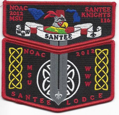 #116 Santee Lodge Flap S40 NOAC Trader 2012 Issue with X15 Chevron - Scout Patch HQ